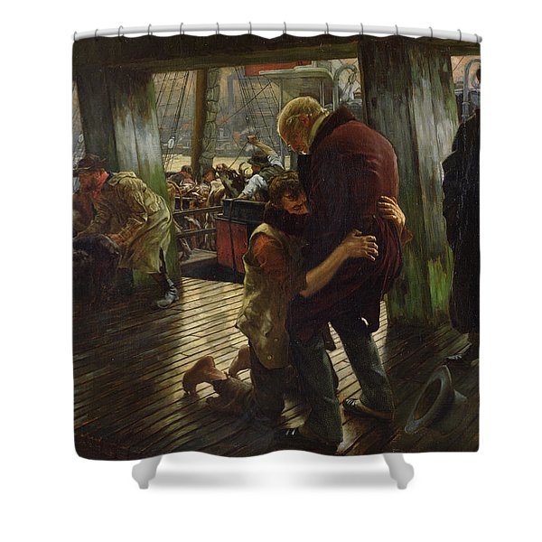 The Prodigal Son In Modern Life Shower Curtain