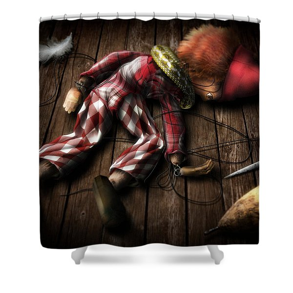 The Puppet... Shower Curtain