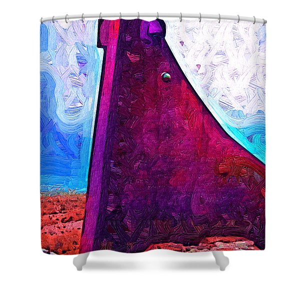 The Purple Pink Wedge Shower Curtain