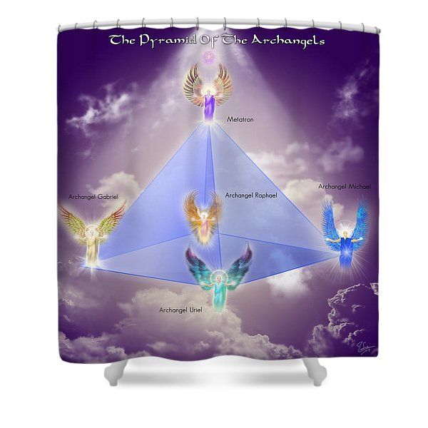 The Pyramid Of The Archangels Shower Curtain