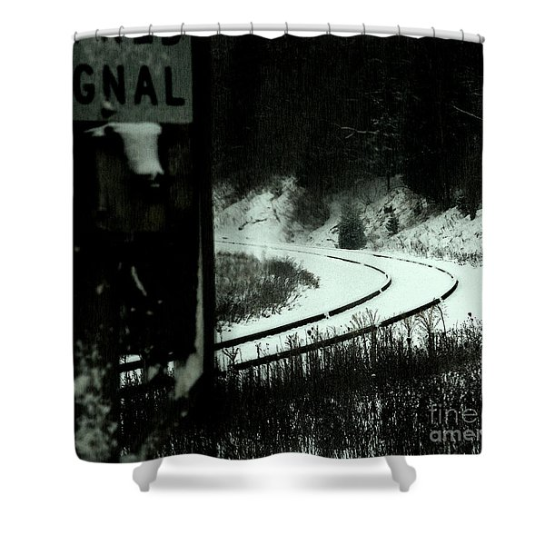 The Rail To Anywhere Shower Curtain