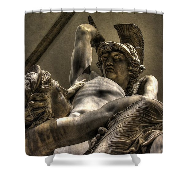 The Rape Of Polyxena Shower Curtain