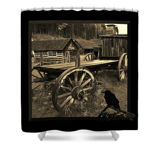 The Raven Flies Straight Shower Curtain