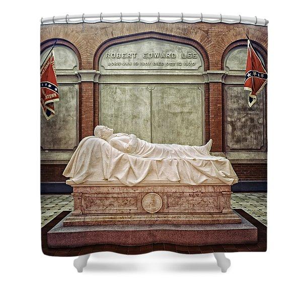 The Recumbent Robert E. Lee Shower Curtain