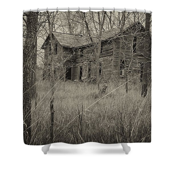 The House In The Woods Shower Curtain