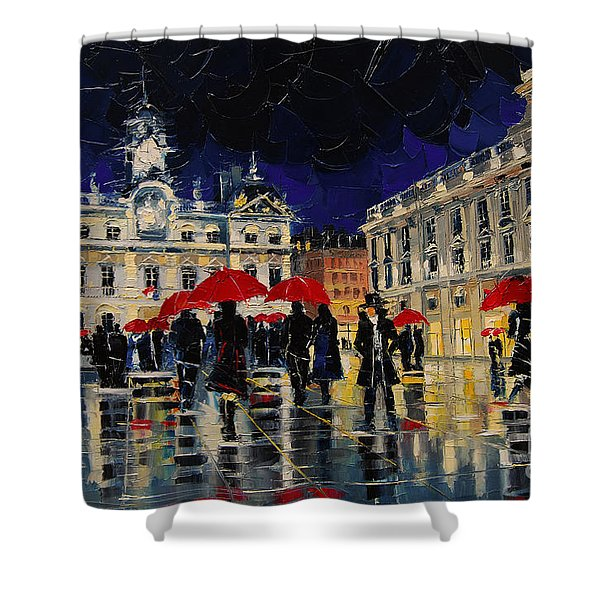 The Rendezvous Of Terreaux Square In Lyon Shower Curtain