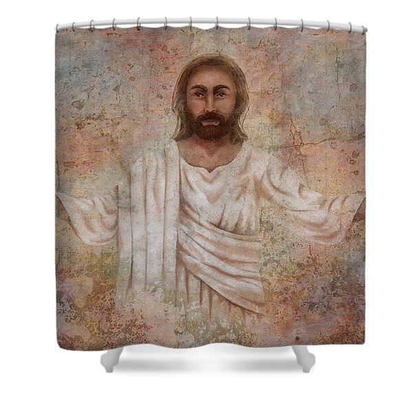 The Resurrection And The Life Shower Curtain
