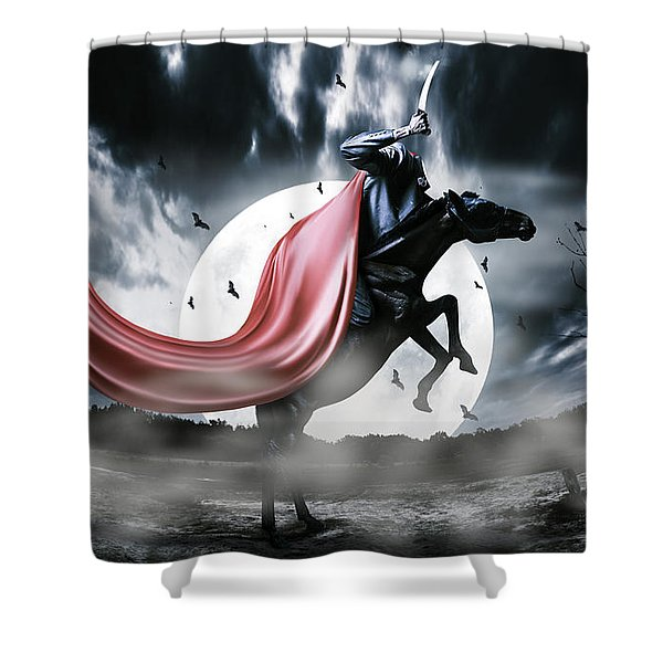 The Rise Of The Headless Horseman Shower Curtain