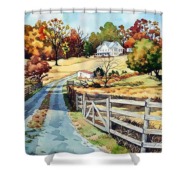 The Road To The Horse Farm Shower Curtain