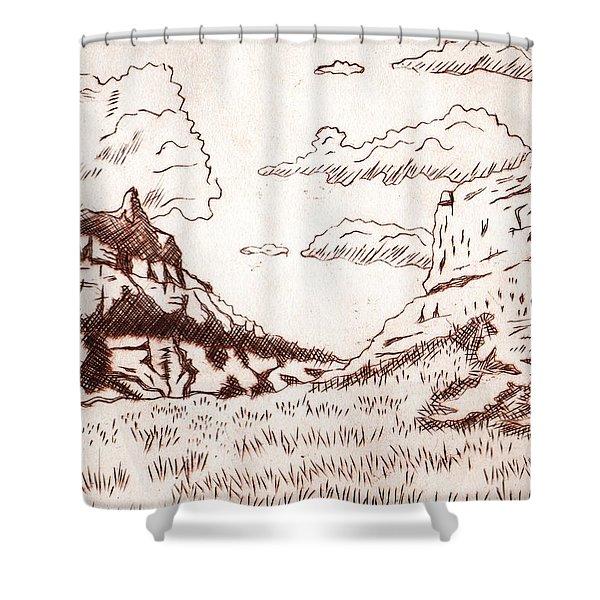 The Rocks Shower Curtain