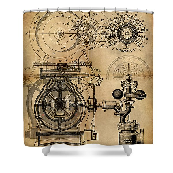 The Rotary Engine Shower Curtain