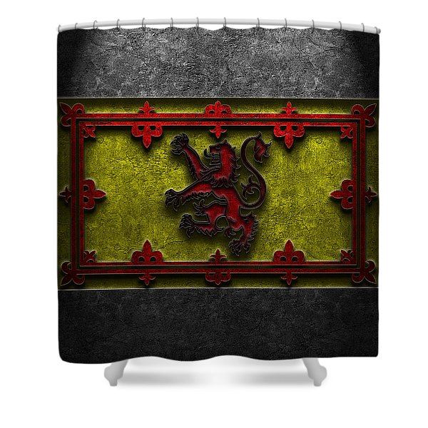 The Royal Standard Of Scotland Stone Texture Shower Curtain