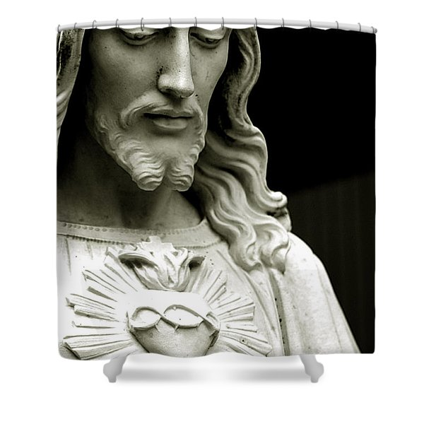 The Sacred Heart Of Jesus, 19th Century Shower Curtain