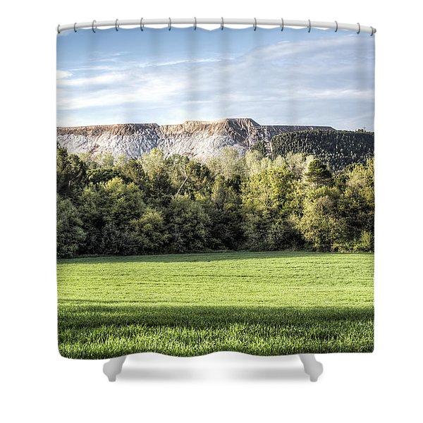 The Salt Mountain Of Sallent Shower Curtain