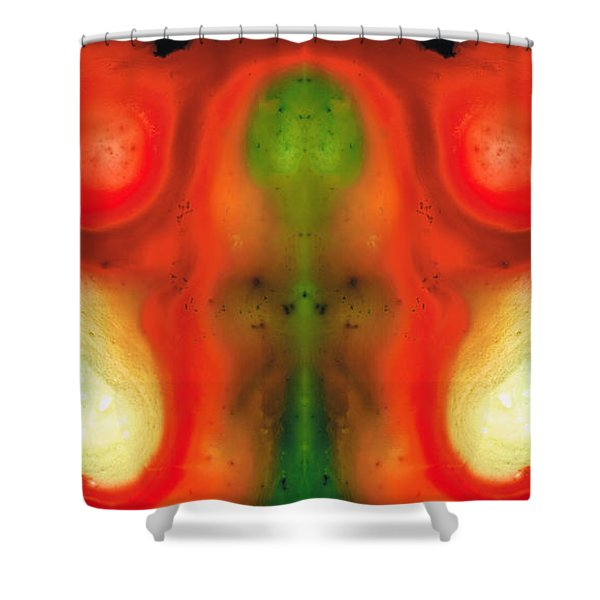 The Samurai - Abstract Art By Sharon Cummings Shower Curtain
