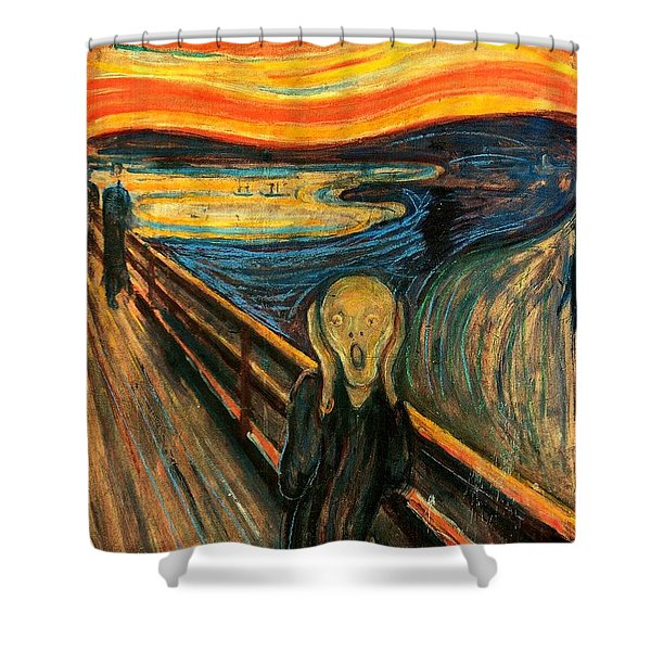 The Scream Edvard Munch 1893                    Shower Curtain