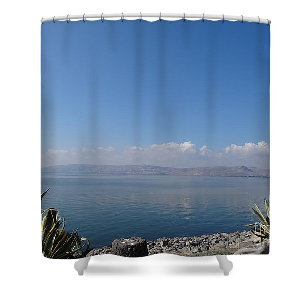 The Sea Of Galilee At Capernaum Shower Curtain