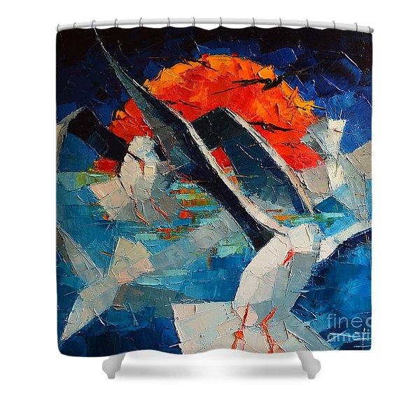 The Seagulls 2 Shower Curtain