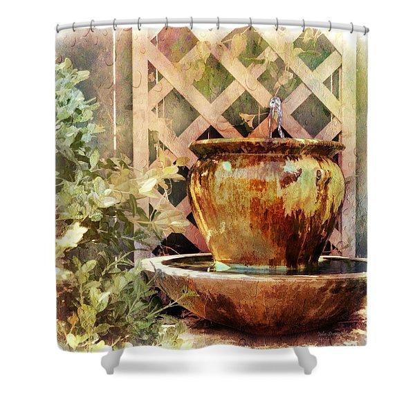 The Secret Fountain Shower Curtain