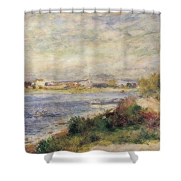 The Seine In Argenteuil Shower Curtain