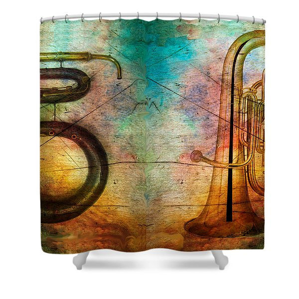 The Serpent And Euphonium -  Featured In Spectacular Artworks Shower Curtain