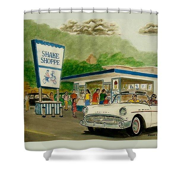 The Shake Shoppe Portsmouth Ohio 1960 Shower Curtain