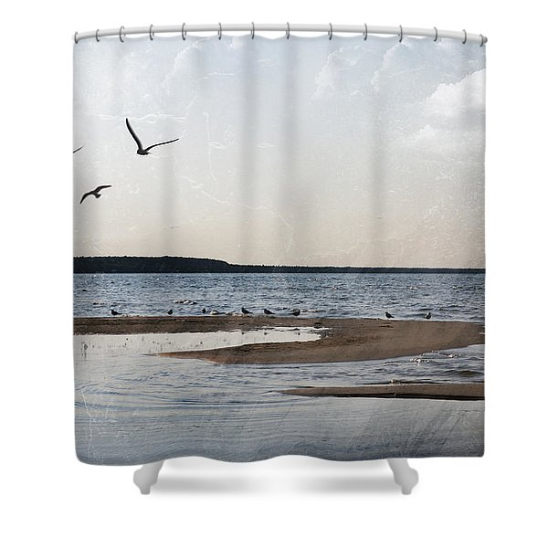 The Shallows At Whitefish Bay Shower Curtain