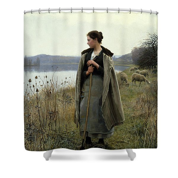 The Shepherdess Of Rolleboise Shower Curtain