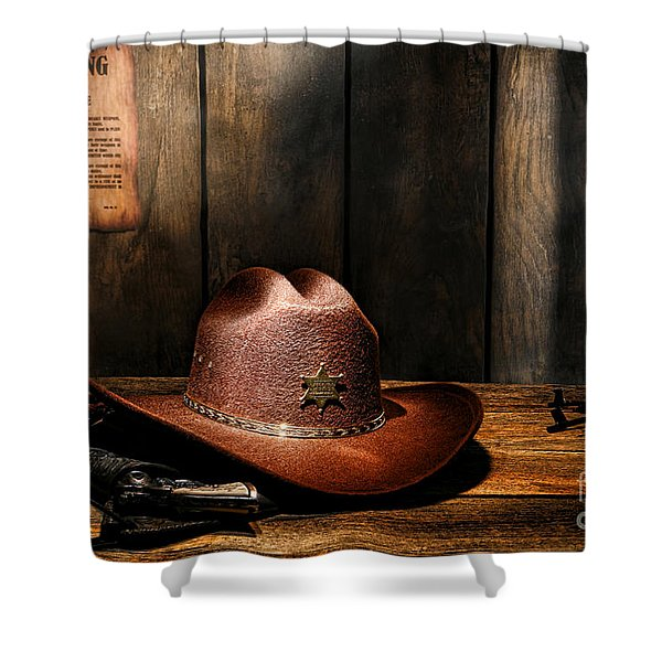 The Sheriff Office Shower Curtain