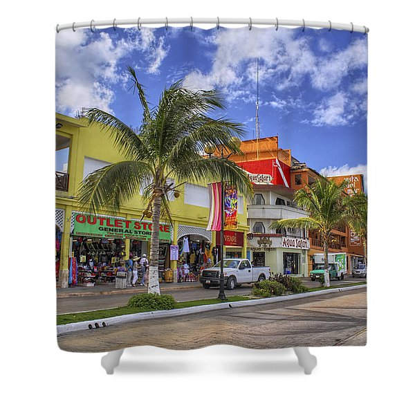 The Shops Of Cozumel Shower Curtain