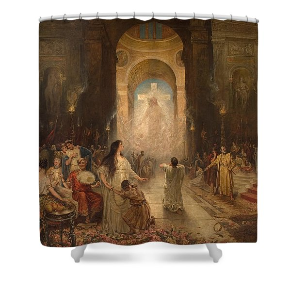The Sign Of The Cross Shower Curtain