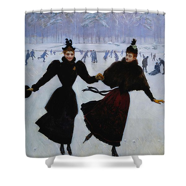 The Skaters Shower Curtain