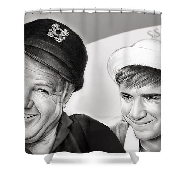 The Skipper And Gilligan Shower Curtain