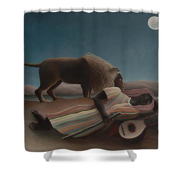 The Sleeping Gypsy Shower Curtain