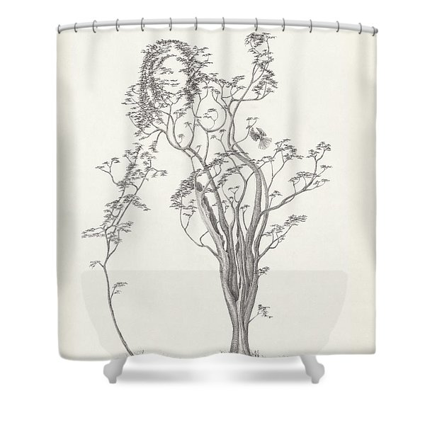 The Small Singer Shower Curtain