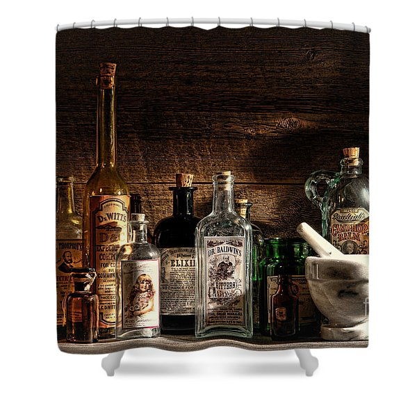 The Snake Oil Shop Shower Curtain