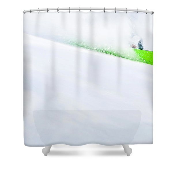 The Snowboarder And The Snow Shower Curtain