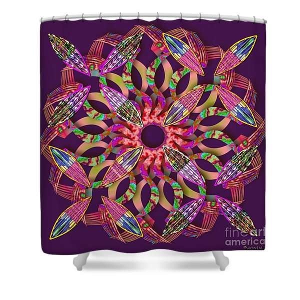 Blooming Mandala 1 Shower Curtain