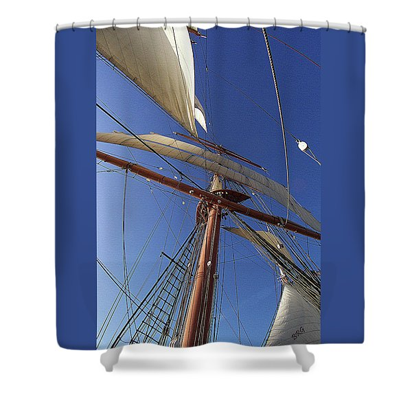The Star Of India. Mast And Sails Shower Curtain