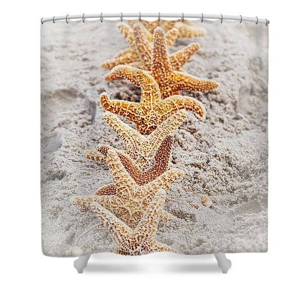 The Starfish Line Dance Shower Curtain