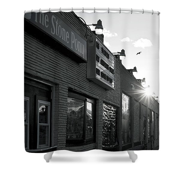 The Stone Pony Asbury Park Side View Shower Curtain