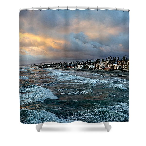The Storm Clouds Roll In Shower Curtain
