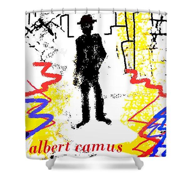 The Stranger Albert Camus Poster Shower Curtain