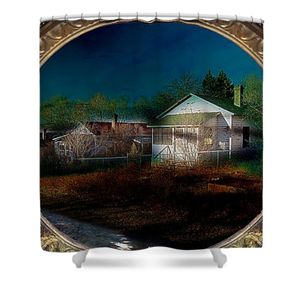Shower Curtain featuring the photograph The Street On The River by Gunter Nezhoda
