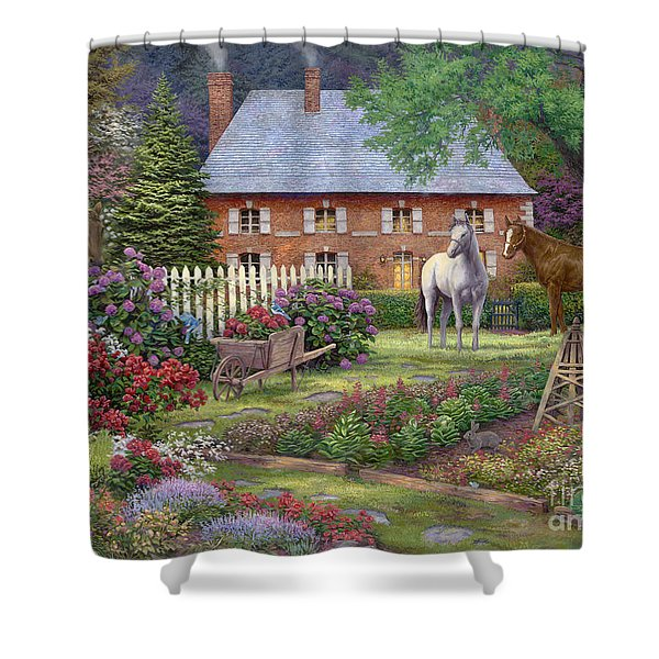 The Sweet Garden Shower Curtain by Chuck Pinson