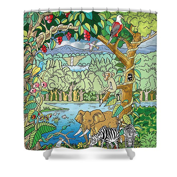 The Temptation Shower Curtain