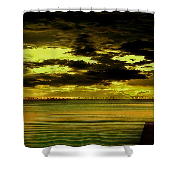 The Thinking Spot Shower Curtain