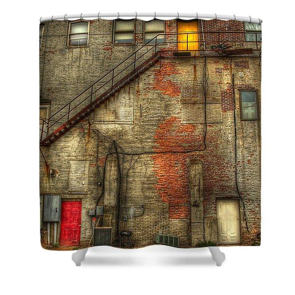 The Three Doors Shower Curtain