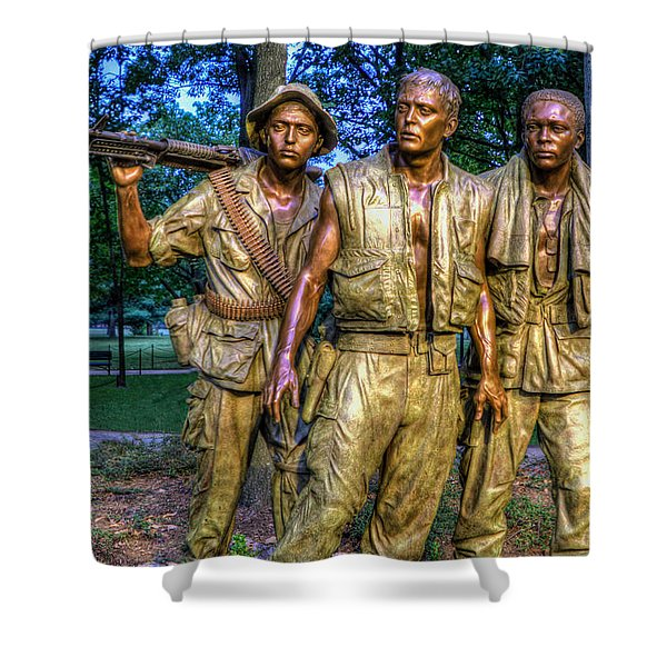 The Three Soldiers Facing The Wall Shower Curtain