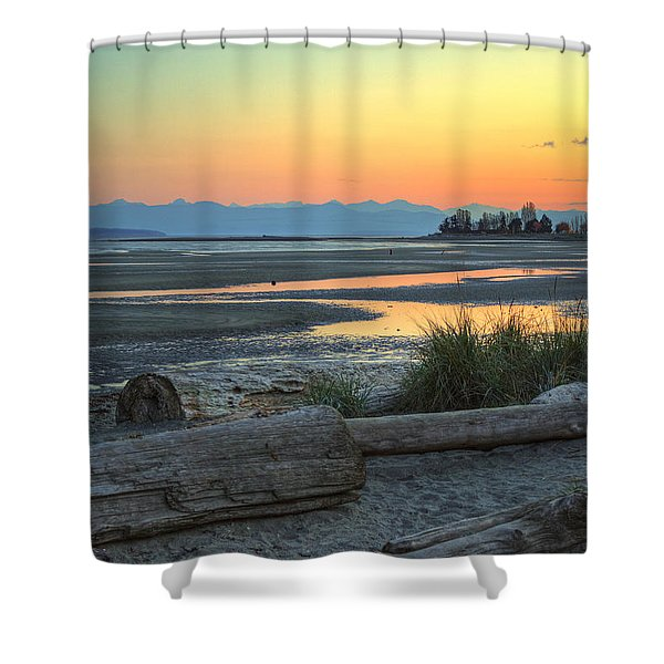 The Tide Is Low Shower Curtain